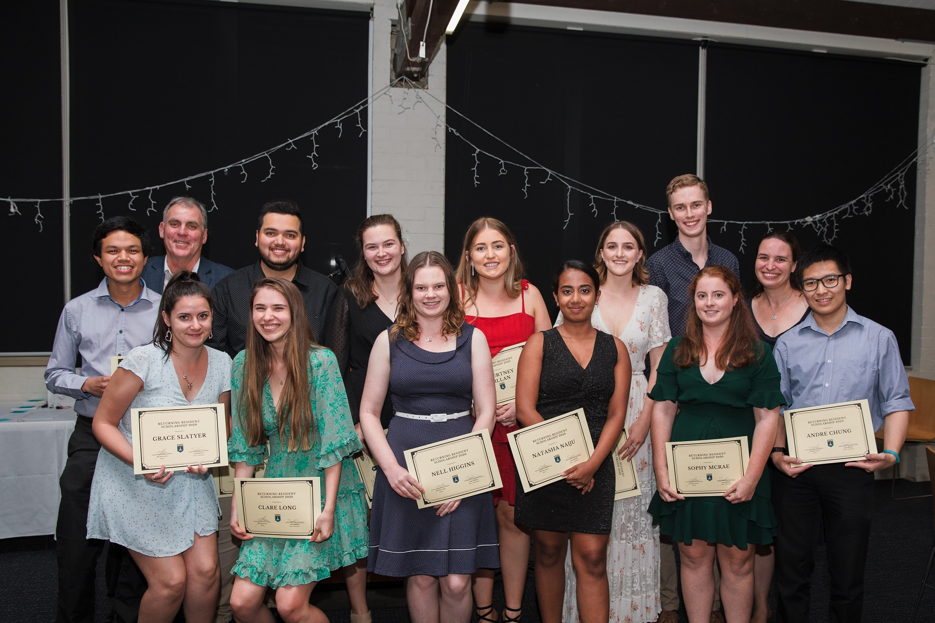 A group of student residents receive scholarships award